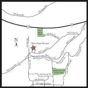 West Slope Terrace - Location Map